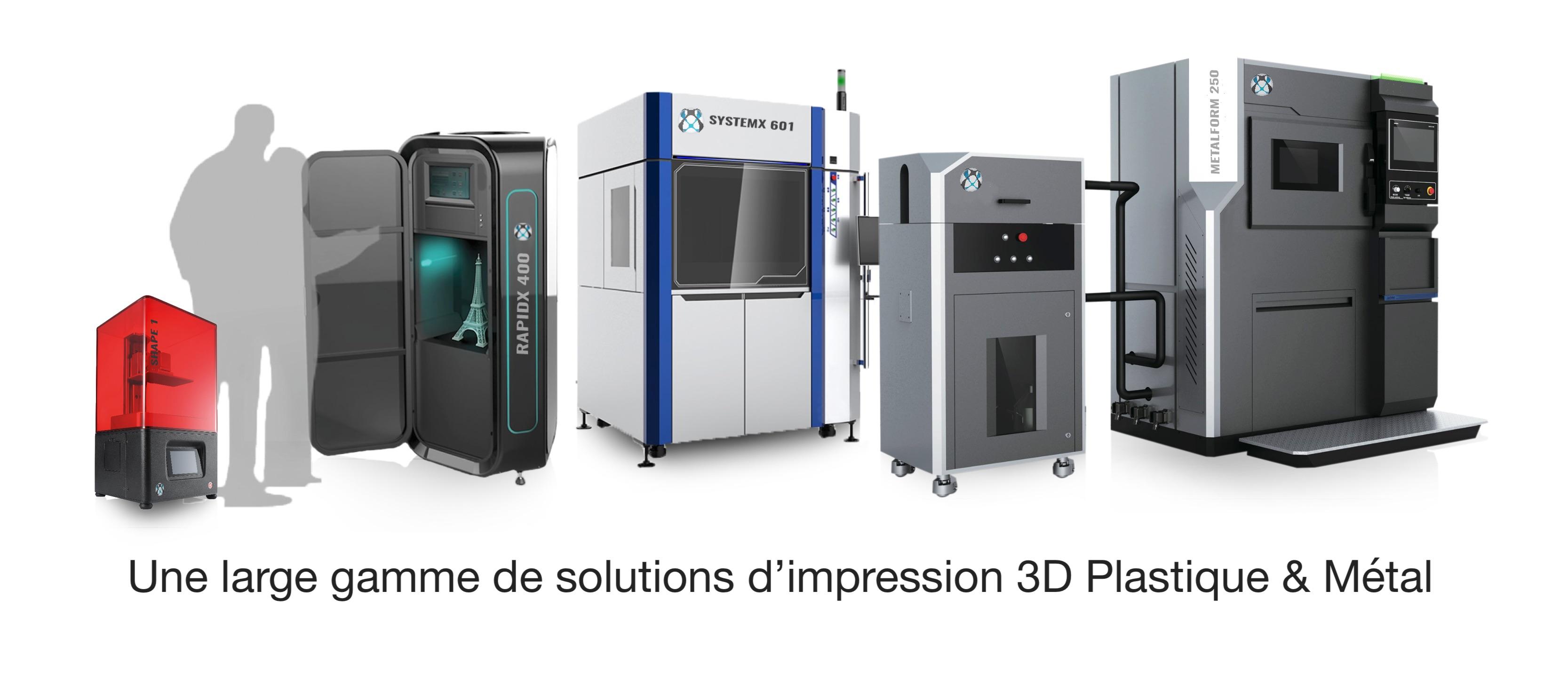 Imprimantes 3D plastique & métal