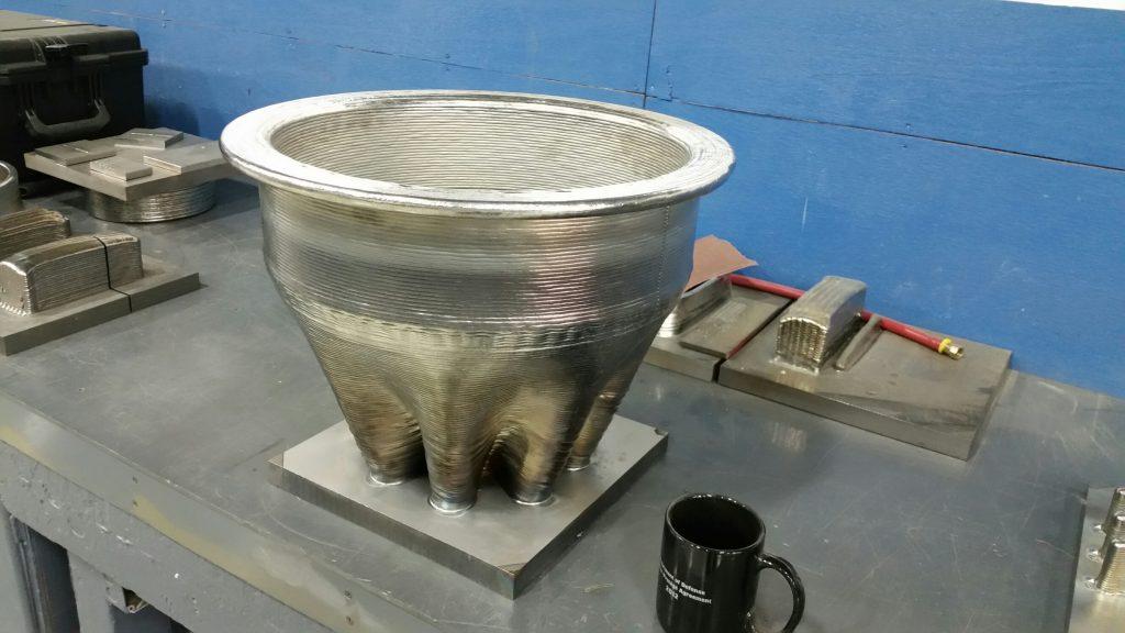 Space parts EBAM Inconel 718