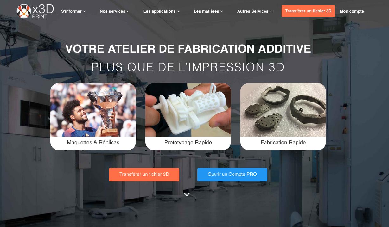 Impression 3D en ligne Plastique et métal