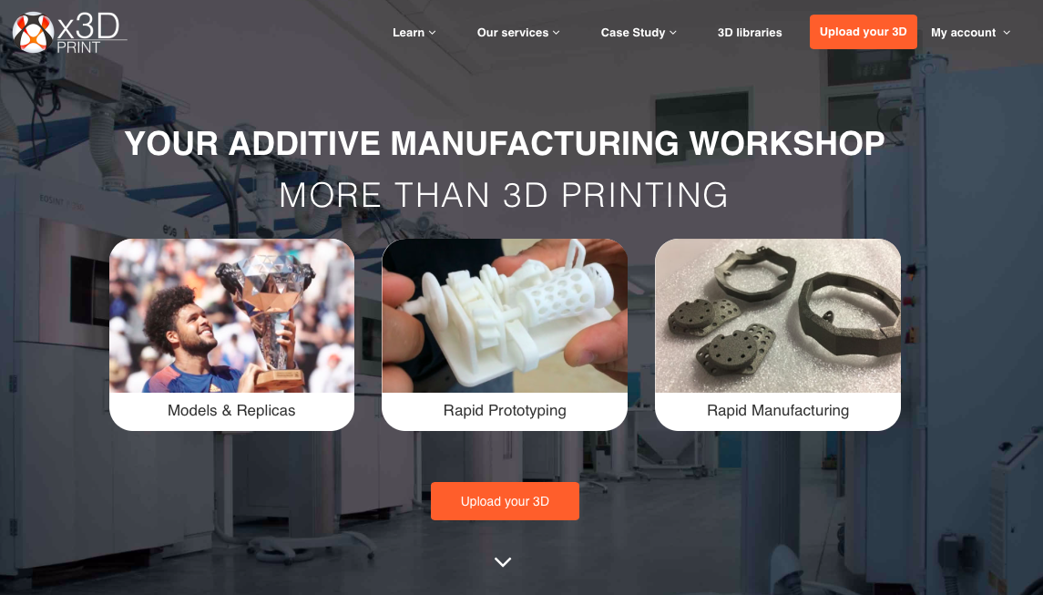 Online 3D Printing Services, plastic and metal & finishing options