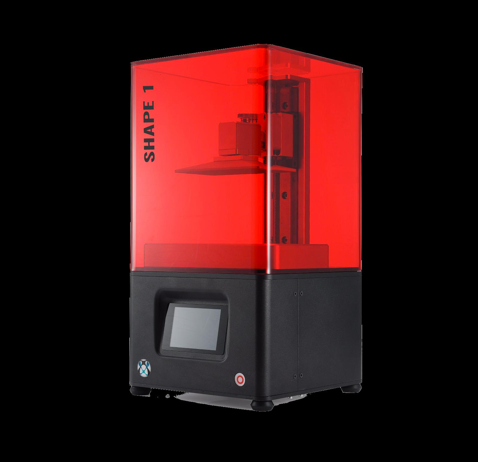 Imprimante 3D de bureau Shape1 de haute précision, pour imprimer des pièces très détaillées, idéale pour la dentisterie, bjjouterie et pièces industrielles.