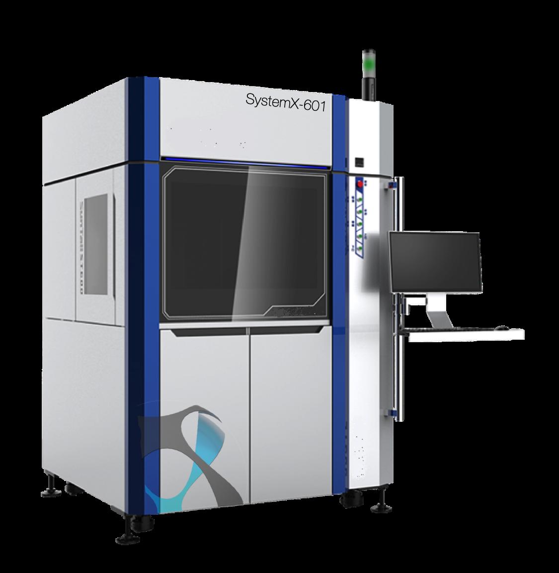 Imprimante 3D SLA SystemX-601, solution industrielle pour imprimer des pièces précises 3D avec des résines DSM Somos