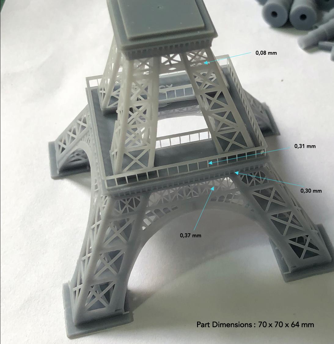 Pièce Haute Précision imprimée en 3D avec l'imprimante 3D LCD de bureau Shape1