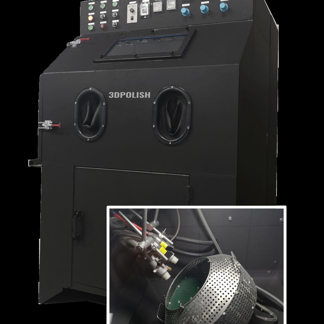 Sableuse de polissage de pièces PA pour nettoyer les pièces imprimées en 3D en SLS et MJF