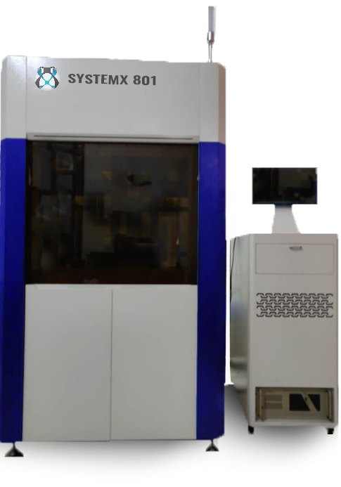 SLA 3D Printer SystemX-801, industrial solution to 3D print parts with DSM Somos resins